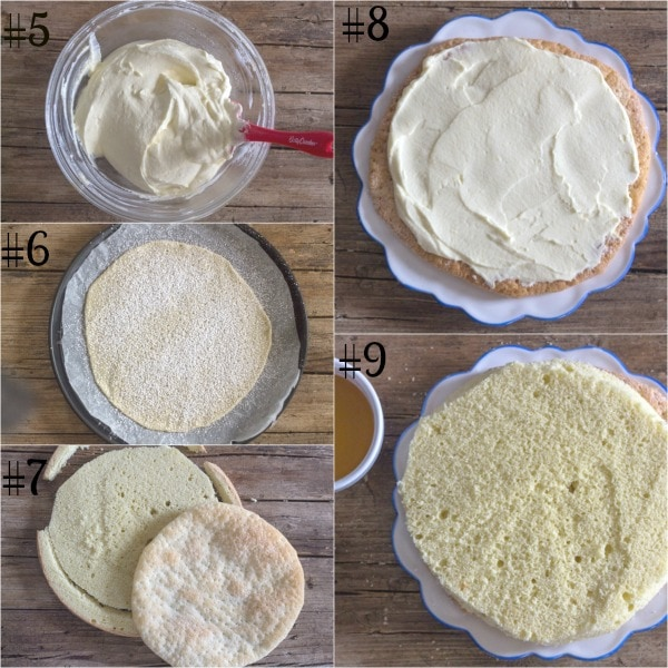 diplomat cake how to make, layering the cake with the cream