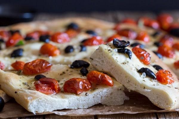 2 slices of focaccia pugliese