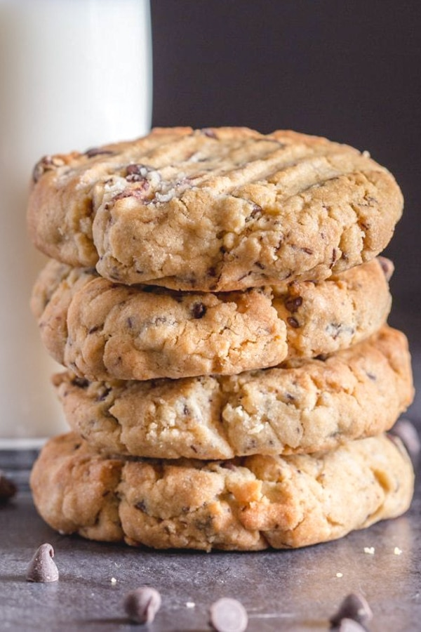 Thick Peanut Butter Chocolate Chip Cookies The Best Thick Cookie
