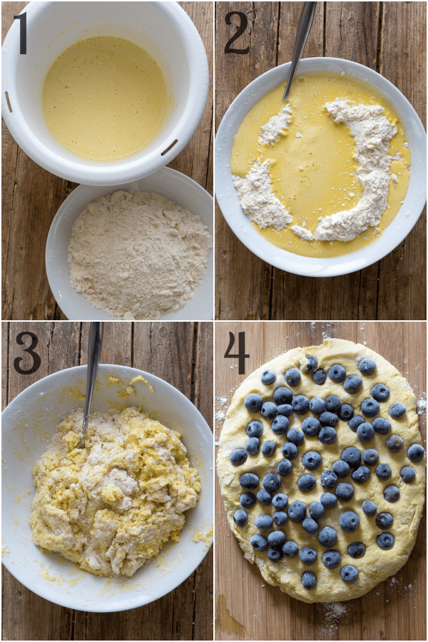 blueberry scones how to make making the dough adding the blueberries