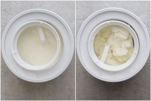how to make fior di latte mixture in the ice cream maker and made