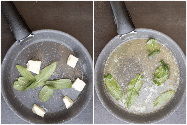 how to make gnocchi making the sauce butter and sage leaves