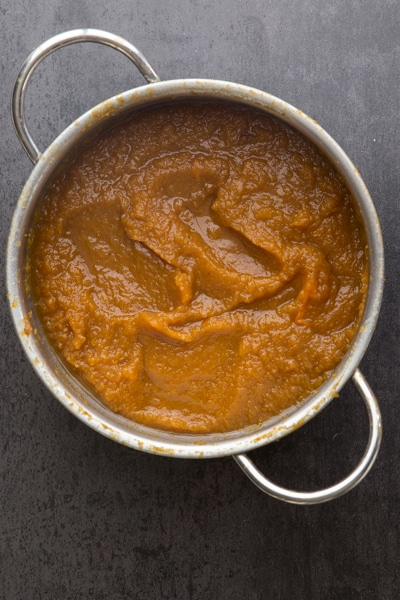 pumpkin butter cooked and thickened