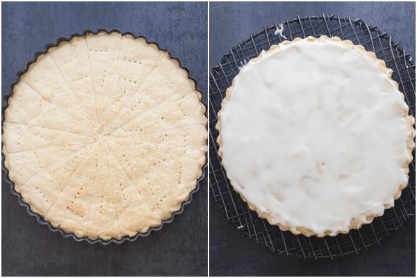 baking and glazing the orange shortbread