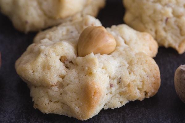 upclose photo of hazelnut cookie