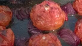 Roast till tomatoes blister and blacken