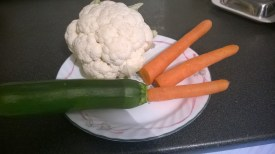 The vegetables I am using today.