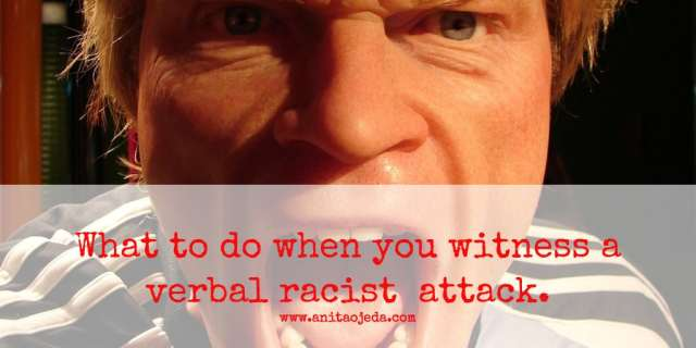 verbal racist attack