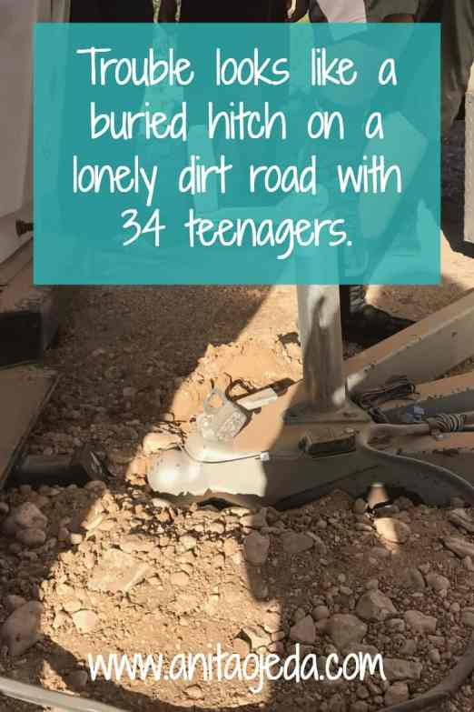 Trouble looks like a buried hitch on a lonely dirt road with 34 teenagers. http://wp.me/p7W1vk-dk