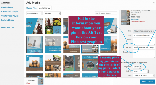 Tips for making your blog graphics pinnable. #pinterest #blogger