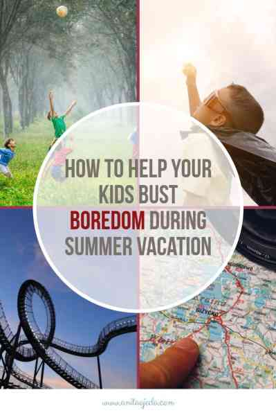 "No parent wants to hear, ""I'm soooo bored!"" from their kids during vacation. Check out these boredom busters. #lifelonglearning #vacation #parenting"