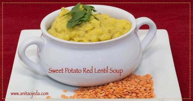 sweet potato red lentil soup