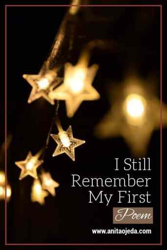 I still remember my first poem. Do you? I'd love to hear your story. #fmfparty #poetry