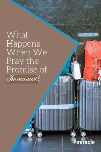 An airline, an agent, and a travel miracle. Unexpected things happen when we pray the promise of Immanuel--God with us. Expect that God will be with you--but don't try to define how. #Advent #miracle #travel