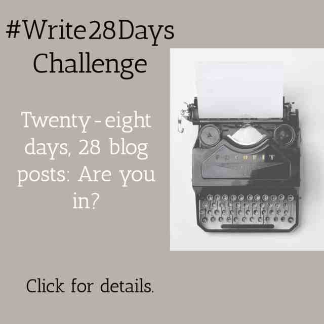Write 28 Days Blogging Challenge