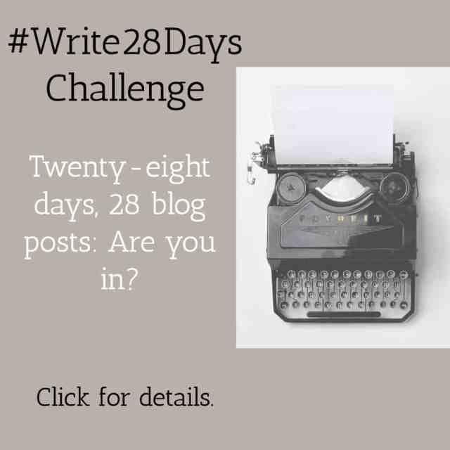 Write 28 Days Blogging Challenge