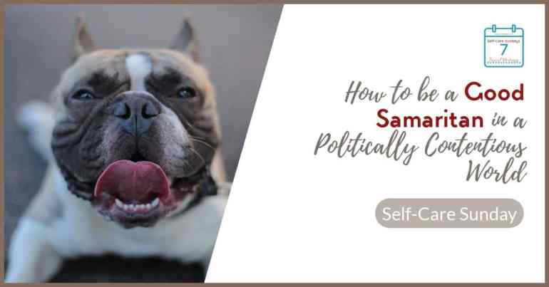 The story of the Good Samaritan made me realize that mental self-care requires that we do occasional attitude checks to see if we're harming ourselves (and others) by our firmly held beliefs. #MAGA #Christian #evangelical #marijuana #pitbull #goodsamaritan #selfcare #SelfCareSunday