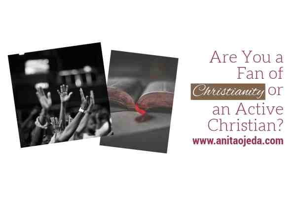 Is there a difference between a fan of Christianity and an active Christian? I think so. Fans watch and participants participate. #Christianity #Godfollower #Active