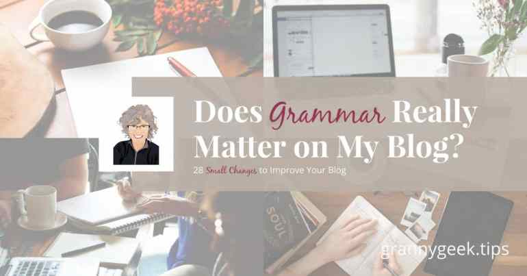 When is good enough good enough? While we should always hone our writing craft, we don't need to cripple ourselves with perfection. Learn how to use two free tools to make sure your grammar leaves a good impression. #grammar #oxfordcomma #blogger #craft #write28days