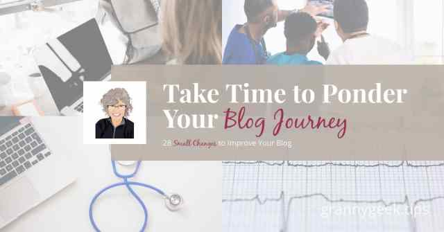 Ponder your journey, don't let discouragement get you down. Find a fellow blogger to act as a triage nurse to help you find your way forward on your journey to increased blog traffic. #blogger #write28days #amwriting #beginningblogger