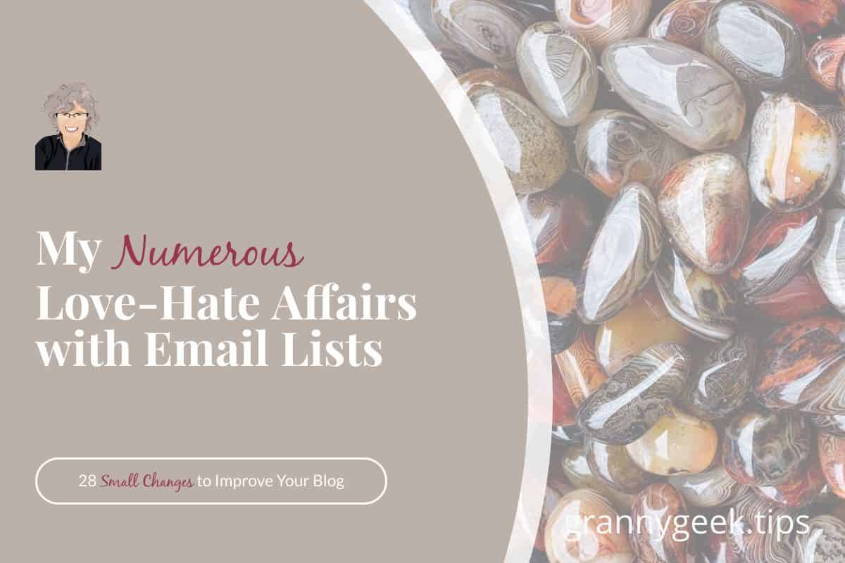 Using the word 'numerous' to try to rank for SEO is a bad idea—kind of like trying to hold giveaways to get people to sign up for your email list. Find out whether or not you really need an email list and what's worked for me. #bloggrowth #blogger #write28days #emaillists