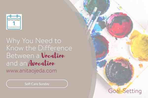Ever wondered about vocation vs. avocation? Although there's only a one-letter difference in the two words, there's a world of difference in their meaning. Or is there? Find out about avocations and why we need them. #avocation #vocation #SelfCareSunday #selfcare #hobby #hobbies #avocations #stress