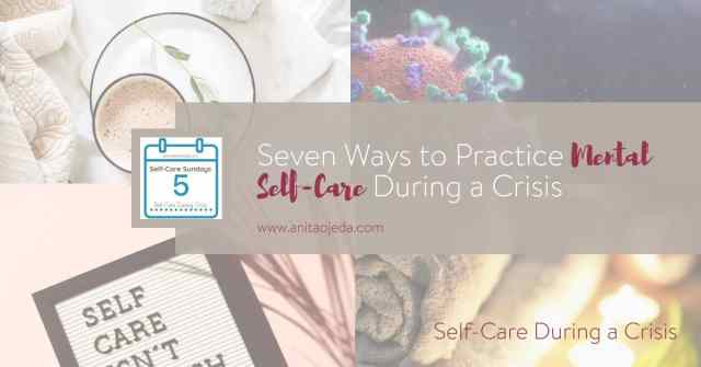 Yes! You need to take care of yourself during a crisis. Don't wait to address your mental health needs. I promise you, the results can be disastrous. #COVID-19 #Crisis #selfcare #SelfCareSunday #mentalhealth #crisiscounselor #takecareofyourself #tipsforselfcare