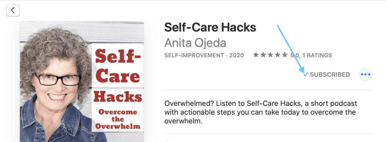 Step-by-step instructions on how to leave a review for the Self-Care Hacks podcast on Apple iTunes. #podcast #review #selfcare #selfcarehacks