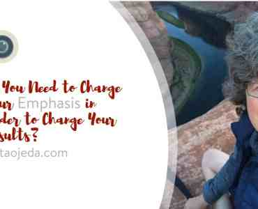 Do You Need to Change Your Emphasis in Order to Change Your Results?