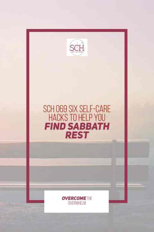 Looking for a way to corral your week and manage your fatigue? Try Sabbath rest! Todays episode will guide you through six self-care hacks for finding Sabbath rest.#Sabbath #SabbathRest #stress #anxiety #relationship #SelfCareHacks #selfcare