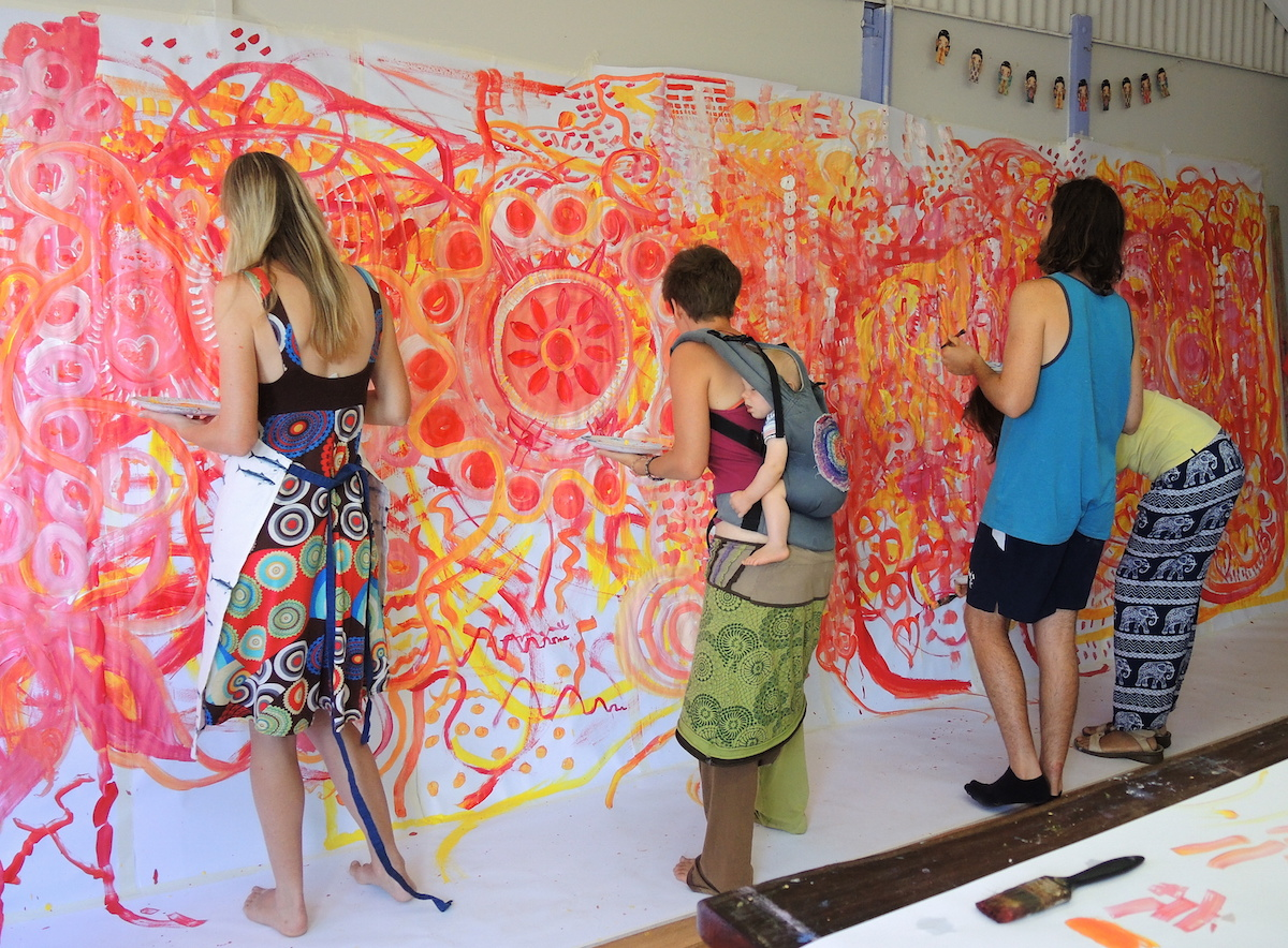 mural workshop theme freedom