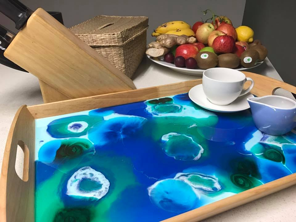resin workshop serving tray