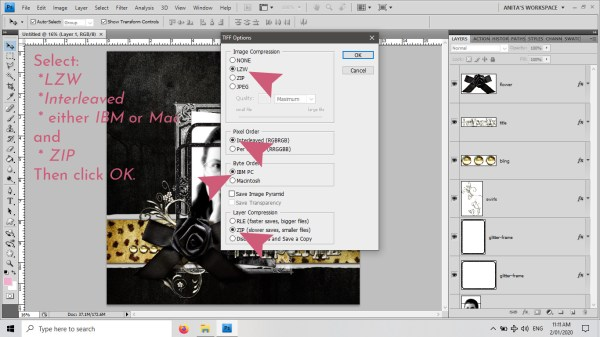 Blog Post: digiscrap-1175 How to optimise your layout file sizes by using .TIFs 03