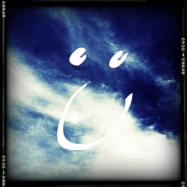 Smile Again: Day 22 Digital Editing on iPad Photo of the Sky