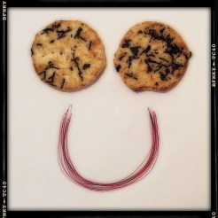 Smile Again: Day 31 Seaweed Rice Crackers and Biro on Plain Paper