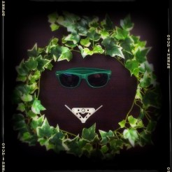 Smile Again: Day 41 Mechano Pieces, Plastic Ivy and Sunglasses on Black Fabric