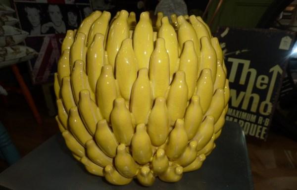 Yellow Ceramic Banana Vase