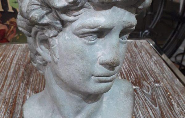 Grecian Face Concrete Planter
