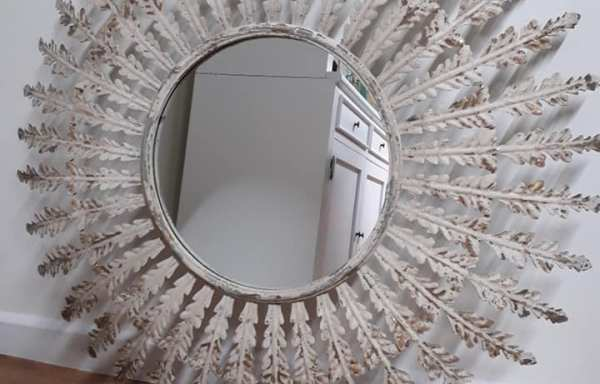 Metal Shabby Chic Round Mirror