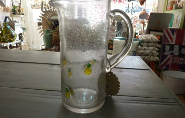 Glass pineapple drinks jug