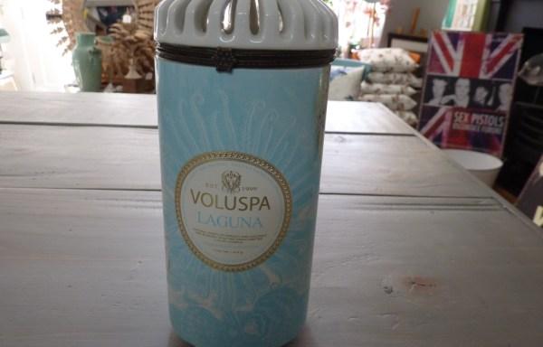 """Voluspa laguna candle 7"""" tall"""