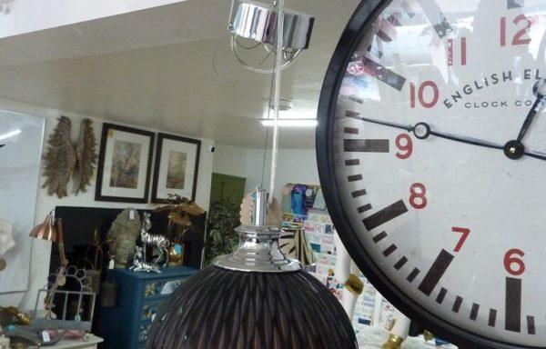 Cut Glass Light Fitting Chrome & Glass £95
