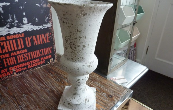 "Distressed planter 13.5"" tall £25"