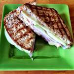Grilled Apple, Ham and Swiss Cheese