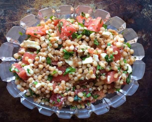 Watermelon, Arugula and Israeli Couscous Salad