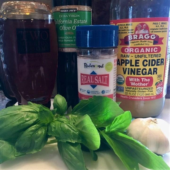 Garlic Basil Vinaigrette Ingredients