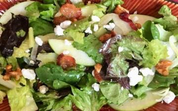 Fall Salad with Caramelized Apple Vinaigrette