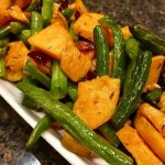 Roasted Green Beans and Sweet Potatoes with Cranberries