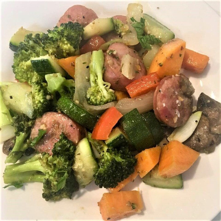 Roasted Vegetables with Sausage
