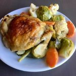 Sheet Pan Chicken with Brussels Sprouts and Cauliflower